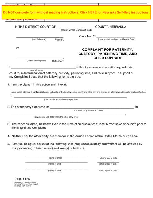 Form DC6:8(3)  Printable Pdf