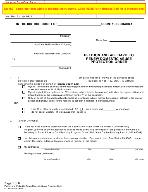 Form DC19:49  Printable Pdf