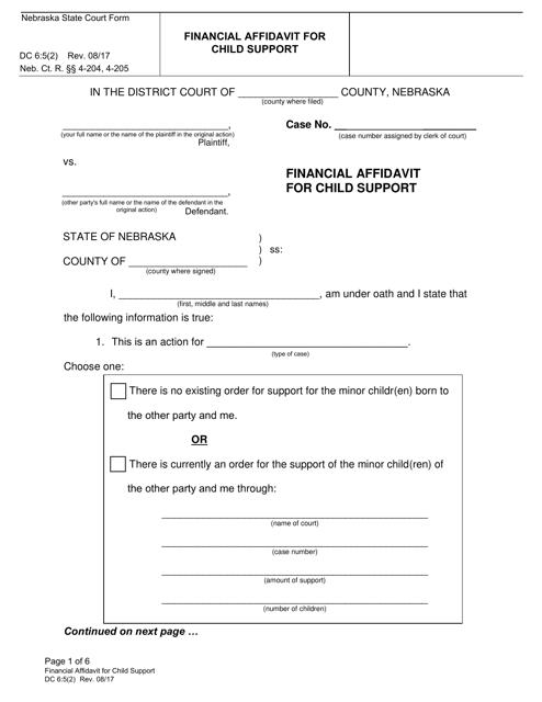 Form DC6:5(2)  Printable Pdf