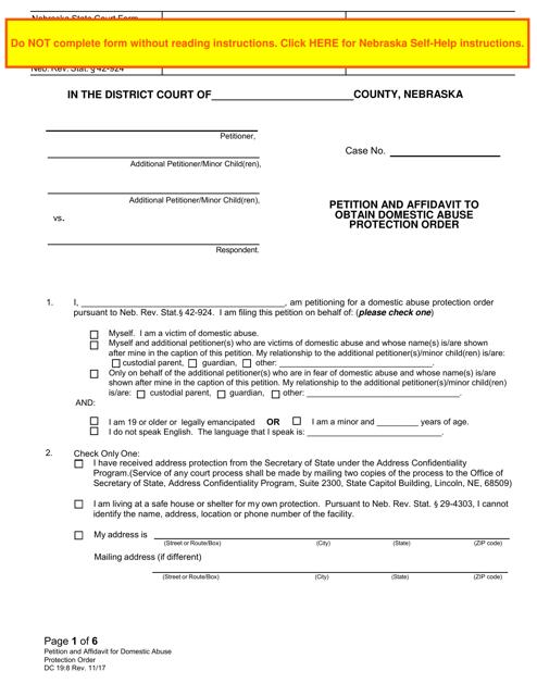 Form DC19:8  Printable Pdf