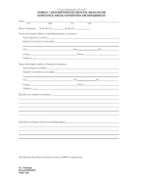 Form NSBC2:08 (8)  Printable Pdf