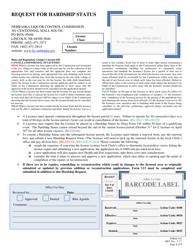 "Form 145 ""Request for Hardship Status"" - Nebraska"