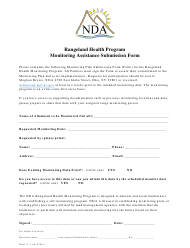 """Monitoring Assistance Submission Form - Rangeland Health Program"" - Nevada"