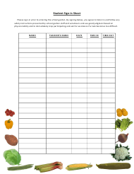 """""""Student Sign-In Sheet Template"""""""