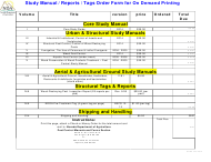 """Study Manual / Reports / Tags Order Form for on Demand Printing"" - Nevada"