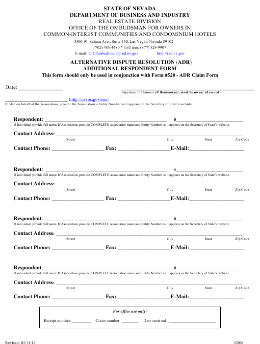 Form 520B Fillable Pdf