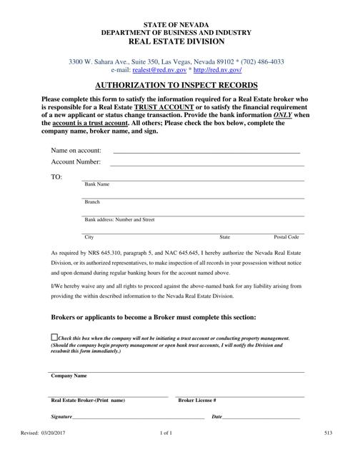 Form 513 Printable Pdf