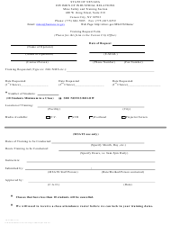 "Form TR-01 ""Training Request Form"" - Nevada"