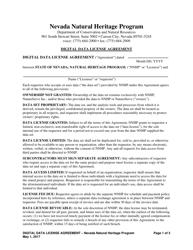 """Data License Agreement - Nevada Natural Heritage Program"" - Nevada"
