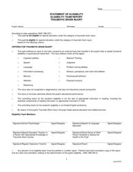 """Statement of Eligibility - Eligibility Team Report - Traumatic Brain Injury"" - Nevada"