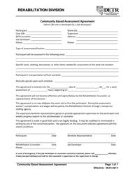 """Community Based Assessment Agreement Form"" - Nevada"