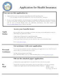 Form 2960-EG Application for Health Insurance - Nevada