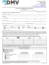 Form SI-02 Application for Self-insurance - Nevada