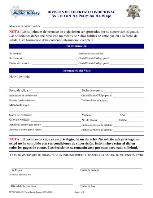 Formulario NPP OFS014S  Printable Pdf