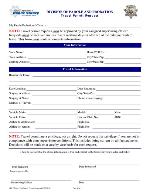 Form NPP OFS014 (A)  Printable Pdf