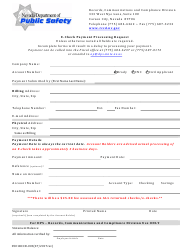 "Form 0501 RCCD-003 ""E-Check Payment Processing Request"" - Nevada"
