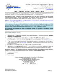 """Form 0505RCCD-012 """"Non-criminal Justice (Civil) Application"""" - Nevada"""