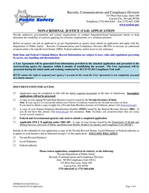 Form 0505RCCD-012  Printable Pdf