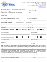"Form 9501RCCD-015A ""Brady Applicant Account Update Form"" - Nevada"