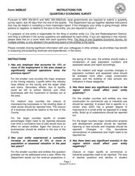 "Instructions for Form 4408LGF ""Quarterly Economic Survey"" - Nevada"