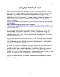"Sample NDOT Form 052-059 ""Employee Interview"" - Nevada"