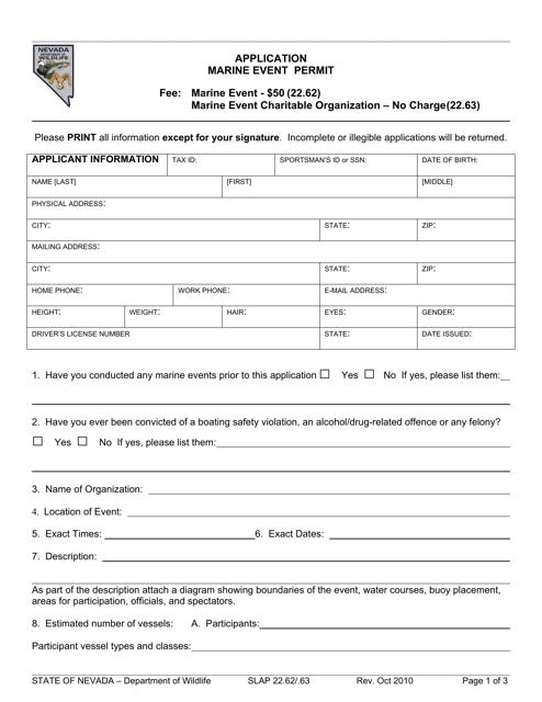 Form SLAP 22.62/.63 Printable Pdf