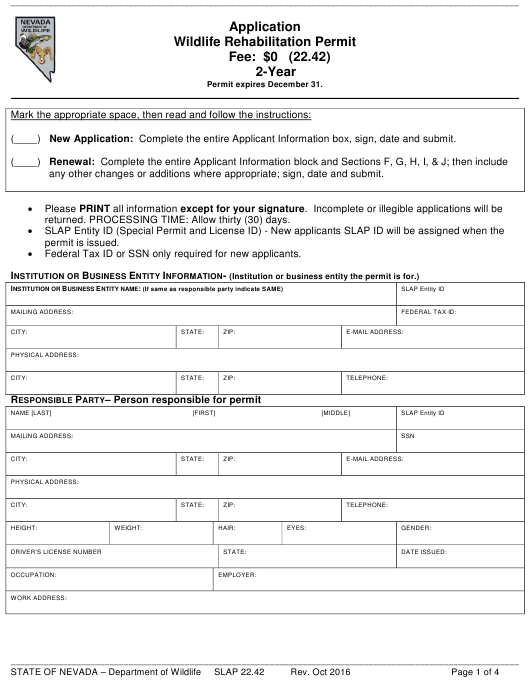 Form SLAP22.42  Printable Pdf