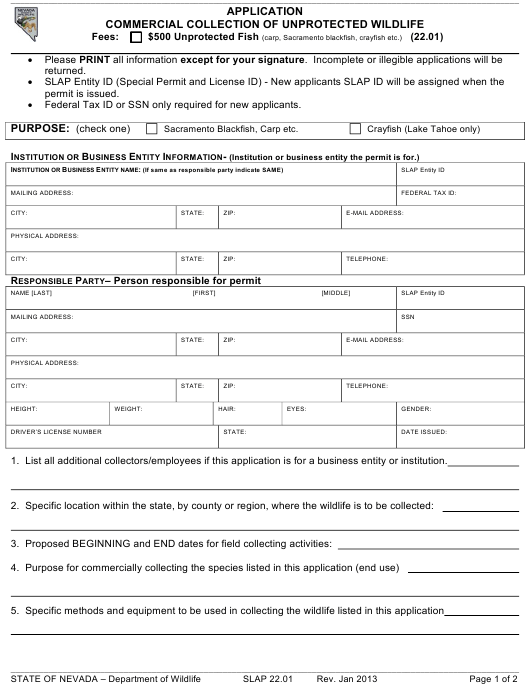 Form SLAP22.01  Printable Pdf