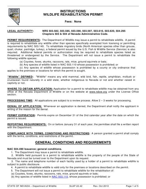 Form SLAP22.42  Printable Pdf