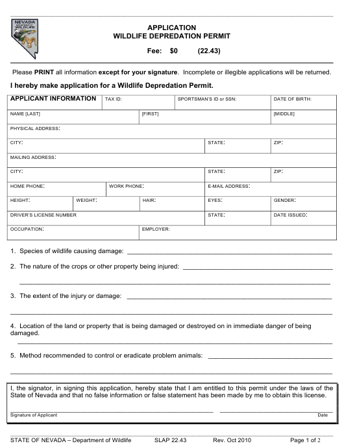 Form SLAP22.43  Printable Pdf