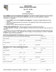 "Form SLAP22.39 ""Aerial Depredation Permit Application"" - Nevada"
