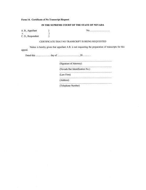 Form 14  Printable Pdf