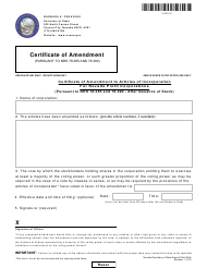 """Form 090204 """"Certificate of Amendment to Articles of Incorporation for Nevada Profit Corporations (Pursuant to Nrs 78.385 and 78.390 - After Issuance of Stock)"""" - Nevada"""