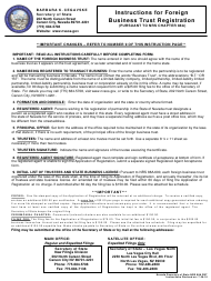 Form 030203 Application of Registration for Foreign Business Trust - Nevada