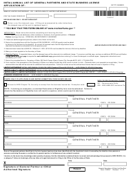Form 100504 Initial/Annual List of General Partners and State Business License Application - Nevada