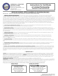 Form 060104 Certificate of Limited Partnership - Nevada