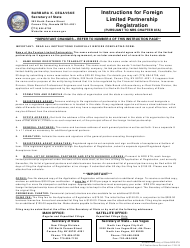 Form 060203 Application for Registration of Foreign Limited Partnership (Pursuant to Nrs Chapter 87a) - Nevada