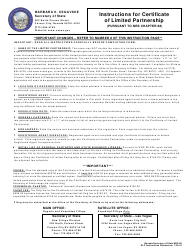 Form 060303 Certificate of Limited Partnership - Nevada