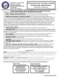Form 060403 Application for Registration of Foreign Limited Partnership - Nevada