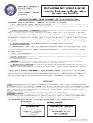 Form 070203 Application of Registration for Foreign Limited-Liability Partnership - Nevada