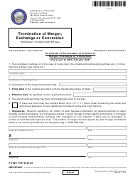 Form 140404 Certificate of Termination of Articles of Merger, Exchange or Conversion - Nevada