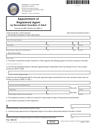 """Form 210502 """"Appointment of Registered Agent by Nonresident Guardian of Adult Pursuant to Nrs 159.0613 and Nrs 77"""" - Nevada"""