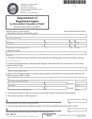 """Form 210502 """"Appointment of Registered Agent by Court-Appointed Nonresident Guardian of Adult - Complete Packet"""" - Nevada"""