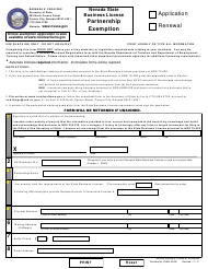 """Form BLPE """"General Partnership Notice of Exemption - Application or Renewal (Nrs 76)"""" - Nevada"""