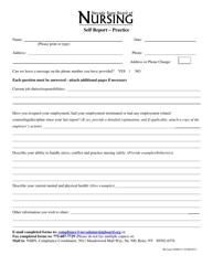 """Self Report Form - Practice"" - Nevada"