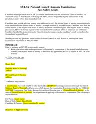 "Sample ""Nclex Score Transfer Form"" - Nevada"