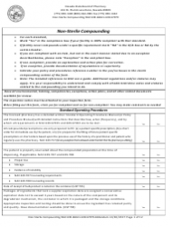 Non-sterile Compounding Addendum Form - Nevada