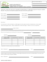 Verification of Alimony/Child Support - Office of Home Energy Programs - Maryland