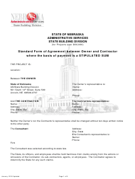 """Construction Proposal and Agreement (Projects Over $50,000)"" - Nebraska"