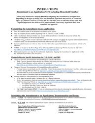 """Amendment to an Application Not Including Household Member"" - Nebraska"